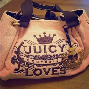 Juicy pink and brown purse.